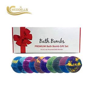 Ensemble-cadeau de bombe de bain Weddells avec fleur sèche