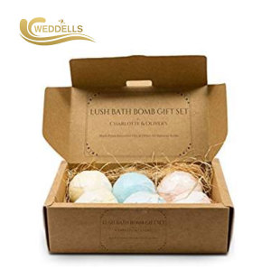 WEDDELLS   beautiful  fizzy essentialoil bath bombs packaging box