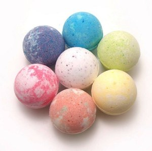 Private Label Custom  Natural Organic Flowers Bath Bombs