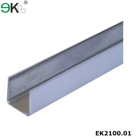 stainless steel u channel glass for handrail