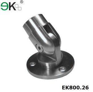 stainless steel adjustable railing base