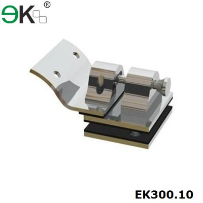 stainless steel lock latch for round post to glass