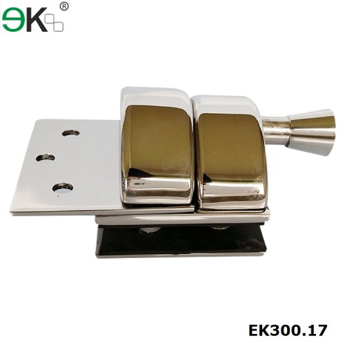stainless steel spring loaded glass door latch