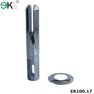 core hole stainless steel glass pool fence casting spigot