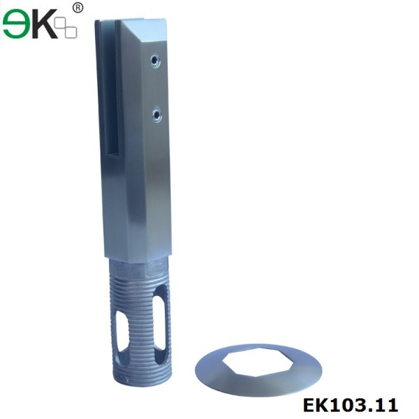 square core drilled hole glass spigot clamp