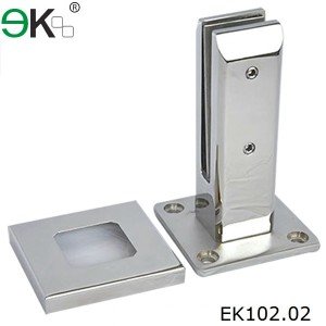 stainless steel square deck mount glass pool fence flange spigot