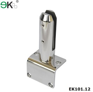 stainless steel round side mount glass spigot