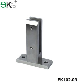 rectangle base laminated glass bolt down spigot
