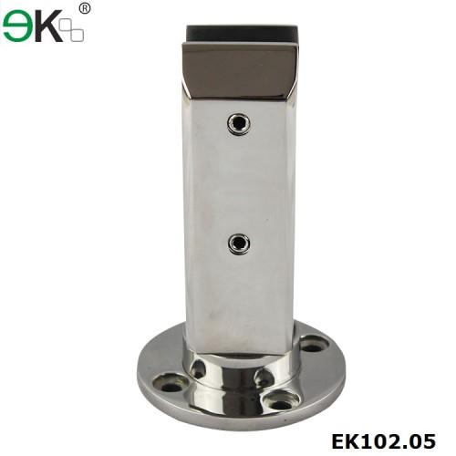 square glass spigot deck mount