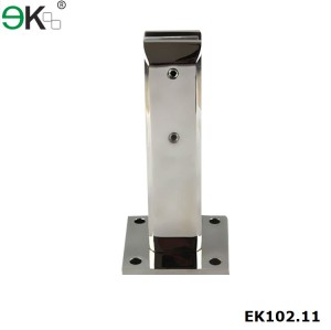 rust resistant frameless glass deck mount spigot