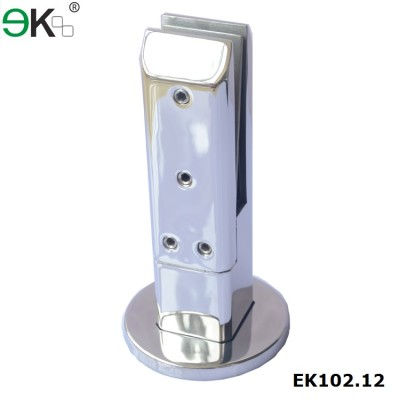 stainless steel glass clamp spigot square deck mounting