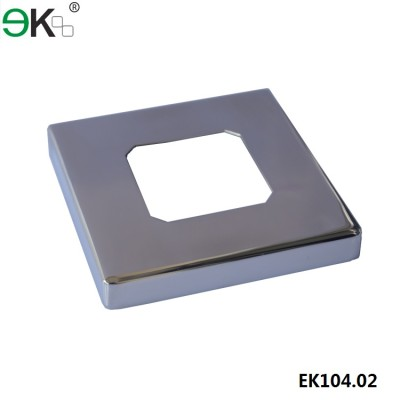 stainless steel square deck mount spigot cover plate
