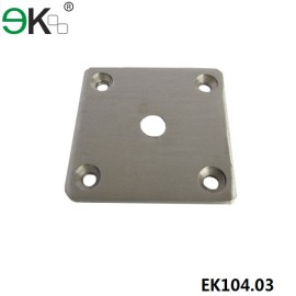 stainless steel square deck mount spigot base plate