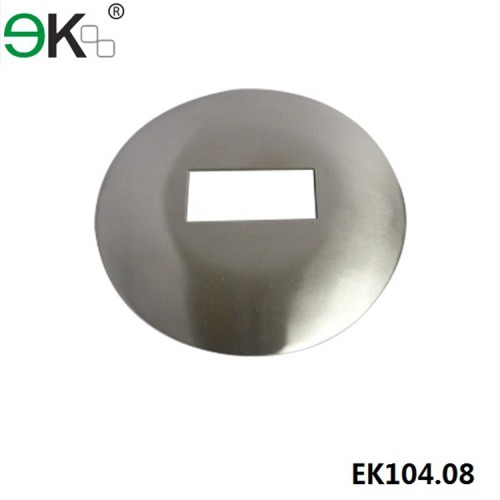 Stainless steel round curved dress ring for post