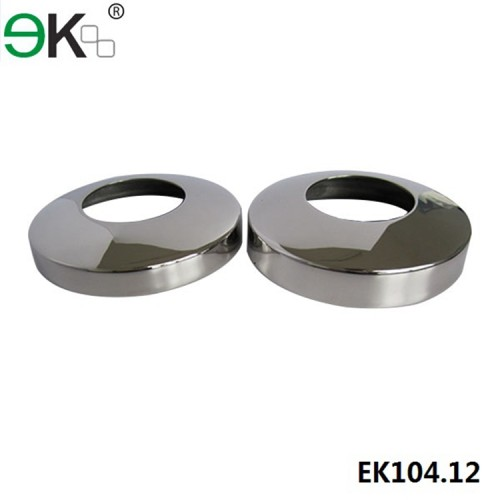 stainless steel arc cover plate for post