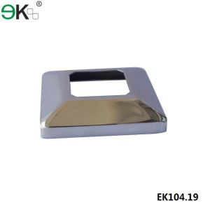 Stainless Steel Square Curved Dress Cover for Square Spigot