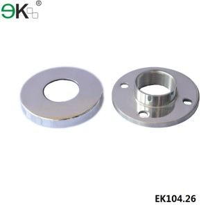 thread handrail fence post base plate with cover