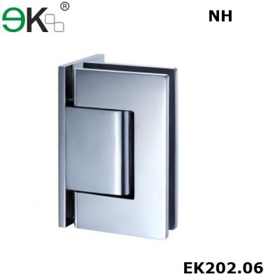 wall to glass fixing non-hold 90 degree L type hydraulic hinge