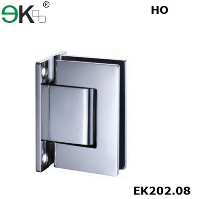 shower hinge wall to glass fixing hold-open 90 degree