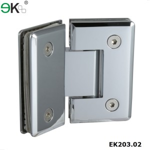 135 degree spring glass shower door hinges