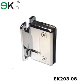 spring loaded wall to glass shower door hinges
