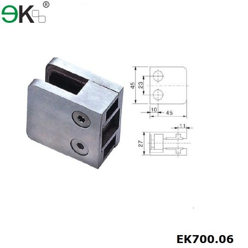square glass fencing clamp
