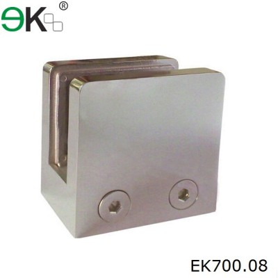 stainless steel square wall mount pipe clamp