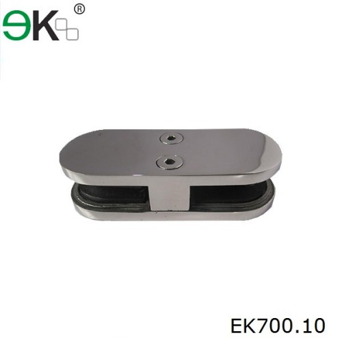 stainless steel glass 180 degree clamp