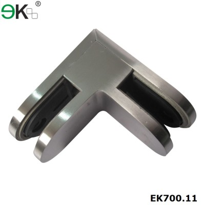 glass to glass 90 degree D glass clamp