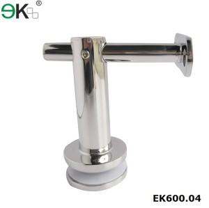 stainless steel frameless glass bracket with fixed flat support