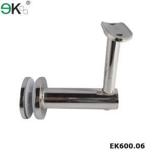 stainless steel round tube glass fixed bracket