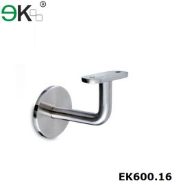 stainless steel fixed flat wall handrail bracket
