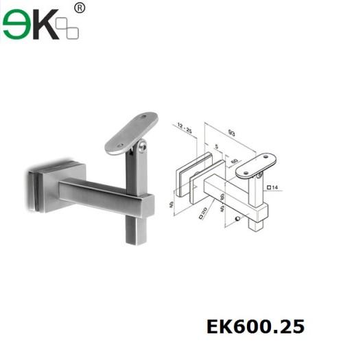 stainless steel square glass handrail bracket