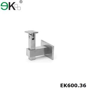 square stainless steel adjustable wall railing bracket