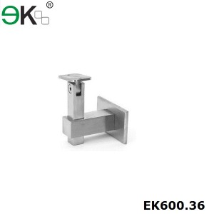 square stainless steel adjustable wall railing bracket