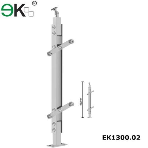 Stainless steel frameless glass balustrade systems for glass railings