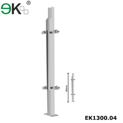 Stainless steel semi frameless glass balustrade for glass handrail