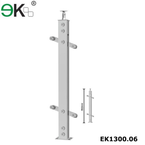 Stainless steel wood handrail balustrading for outdoor step