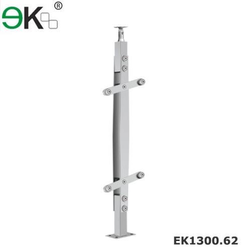 Glass railing handrail outdoor glass balustrade posts