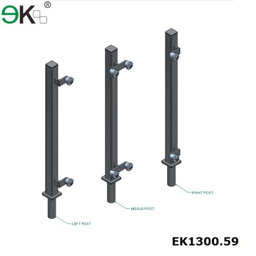 stainless steel pigtail post and rail fencing post