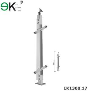 Stainless steel external glass balustrade systems for handrails