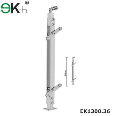 Stainless steel handrail glass balustrade for glass railings
