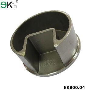 Stainless Steel Round Post Single Slot Tube Cap