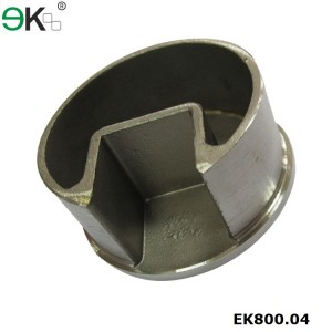 Stainless Steel Round Post Single Slot Tube Cap
