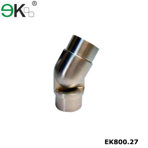 Stainless steel glass pipe fitting handrail tube connector