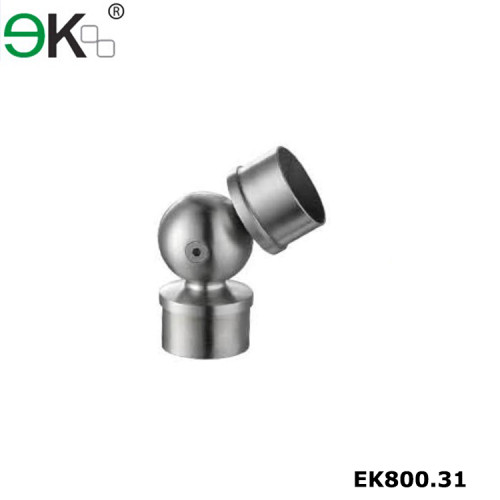 Stainless steel adjustable round elbow tube connector