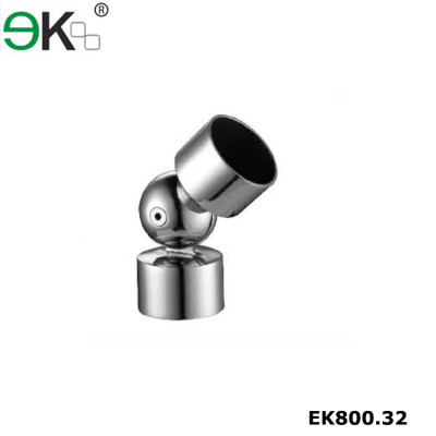 Stainless steel glass railing handrail connector tube fitting