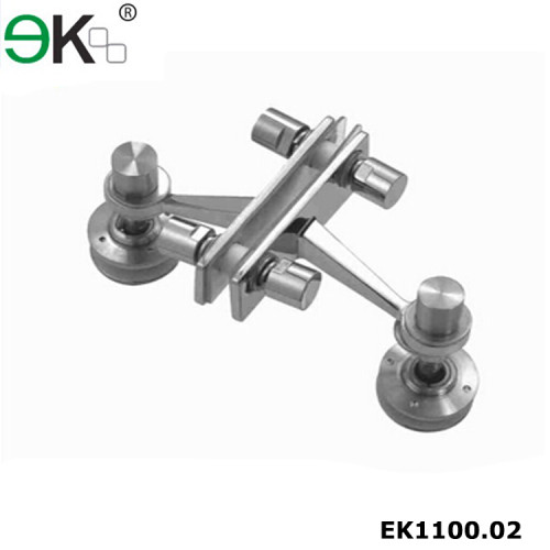 T Type Stainless steel two way glass fitting fin spider