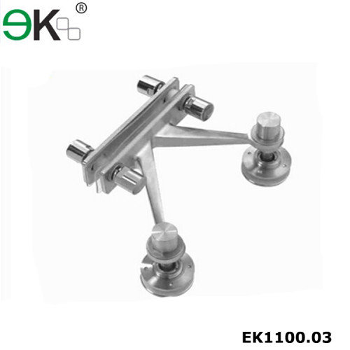 Stainless steel two arms glass curtain wall fin plate spider