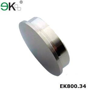 stainless steel glass fence post cap
